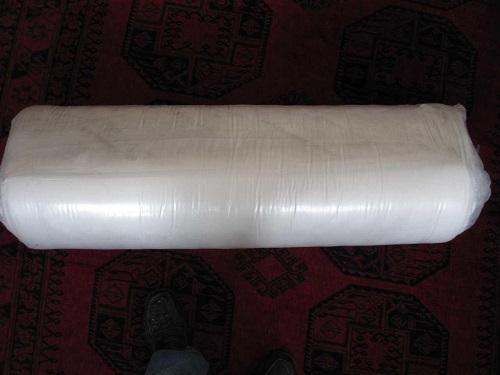 Tonnen-Taschenfederkernmatratze Florence Plus zusammen gepackt von oben