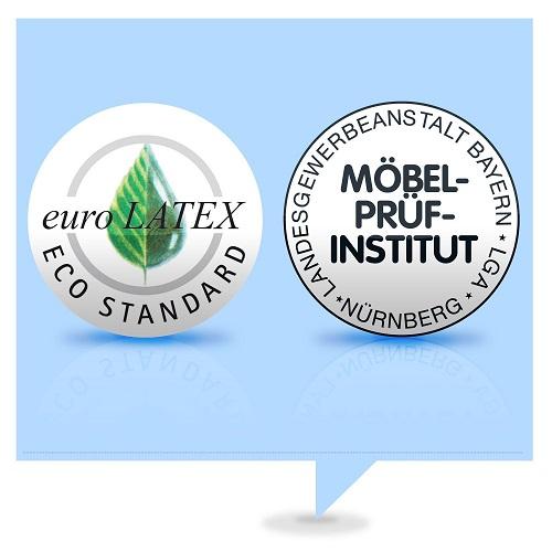 Ravensberger Matratze Prüf Logo Zertifikat