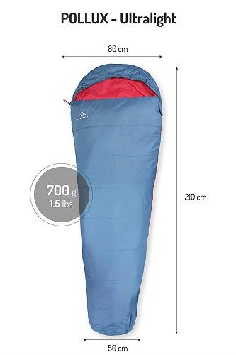 Nordkamm Schlafsack Maße