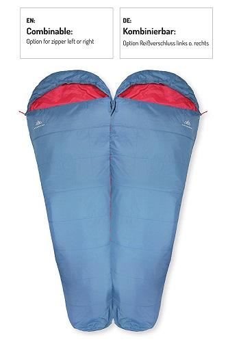 Nordkamm Schlafsack ist kombinierbar