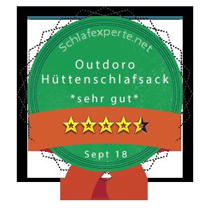 Outdoro-Hüttenschlafsack-Wertung