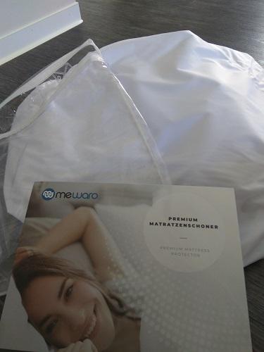 Mewaro Matratzenschoner ausgepackt